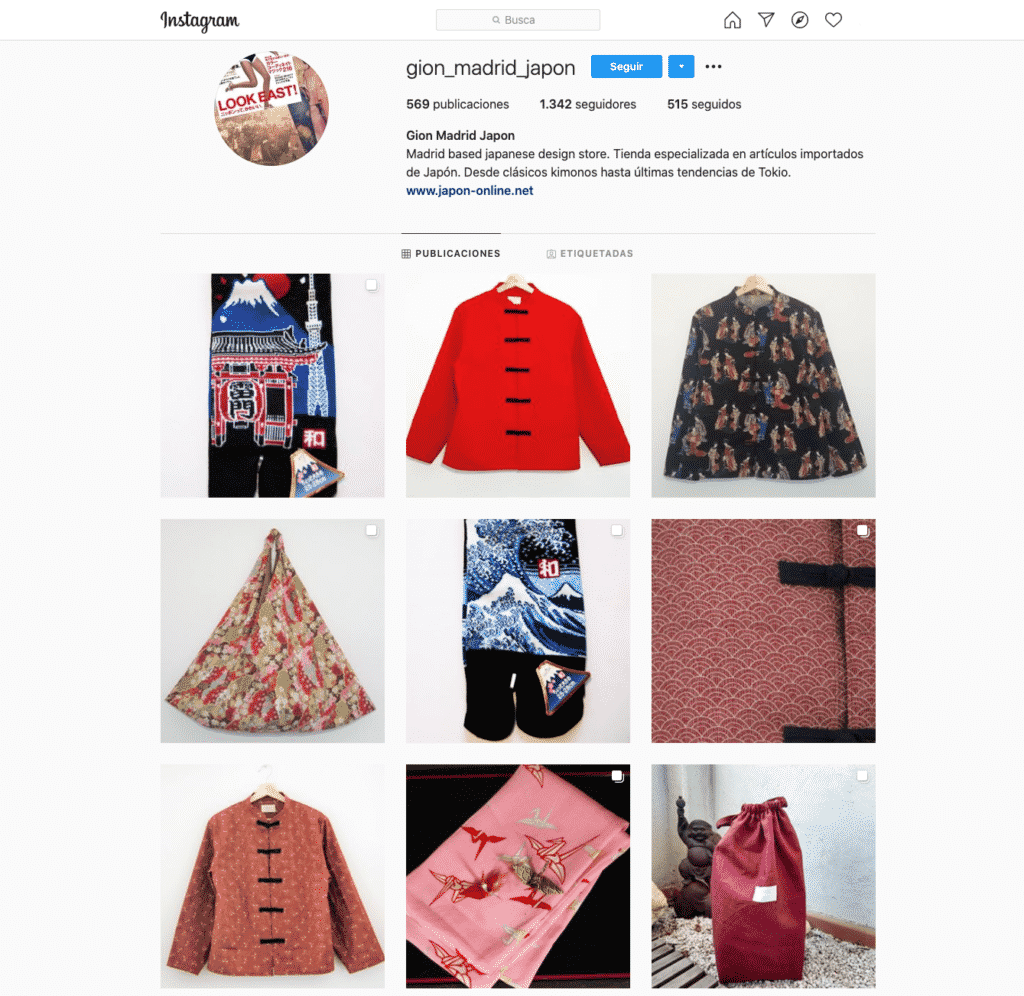 kimono gion tienda japonesa madrid