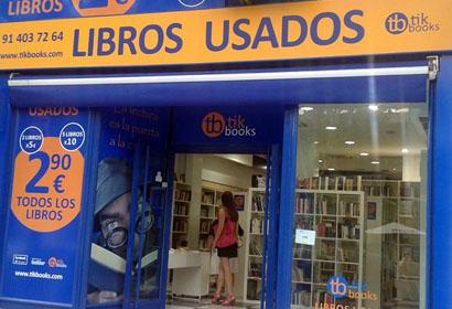 tb tik book librerias de segunda mano madrid