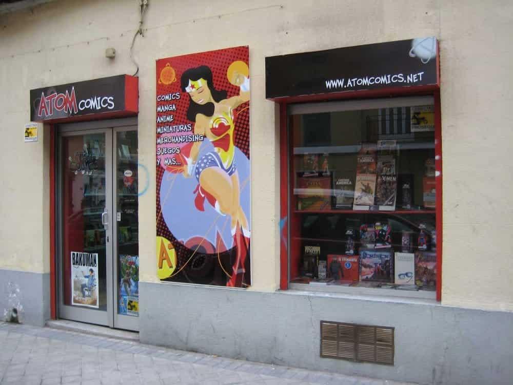 atom comic libreria especializada madrid