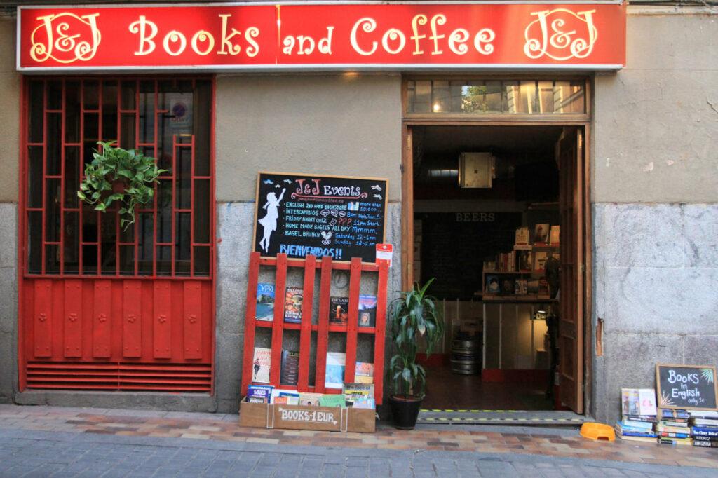 jj books and coffee cafetería librería madrid